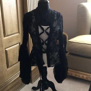 YSL lace blouse